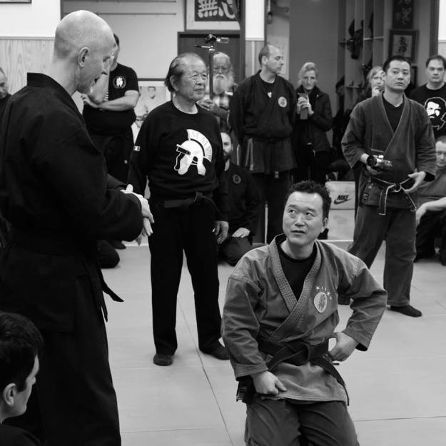 Translating at the Honbu Dojo. A big thank you to Michael Waschak for his fantastic photography.